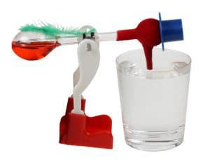 Recall the famous drinking bird who recharges with water to cool himself down